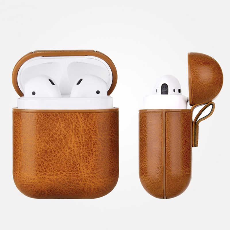 Headphone Case For Apple Airpod Accessories For iPhone AirPods Case Key Luxury Leather Storage Wireless Earphone PU + PC Cover