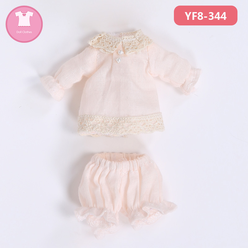 BJD Clothes 1/8 Light Color Dress Suit For Laola  YF8 to 344 Doll Accessories Outfit 1