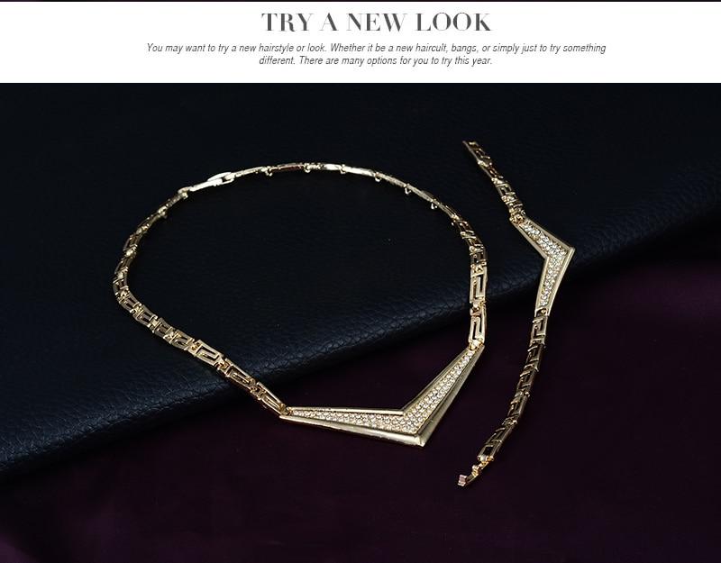 Conjunto de joyas de traje africano 18K anillo plateado Earing collar - Bisutería - foto 5