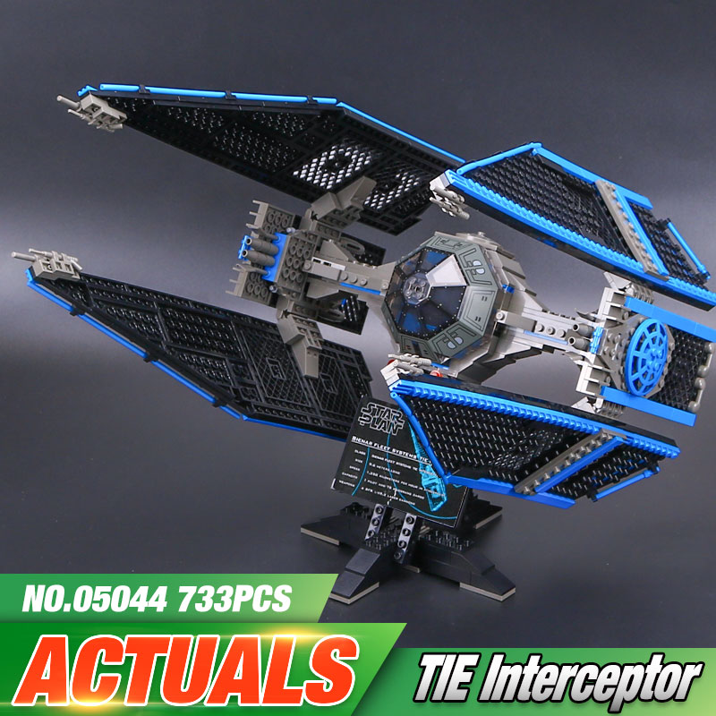 New Lepin 05044 733Pcs Star Toys Wars The 7181 Tie Interceptor Model Building Blocks Bricks Kids Toys Christmas Birthday Gifts