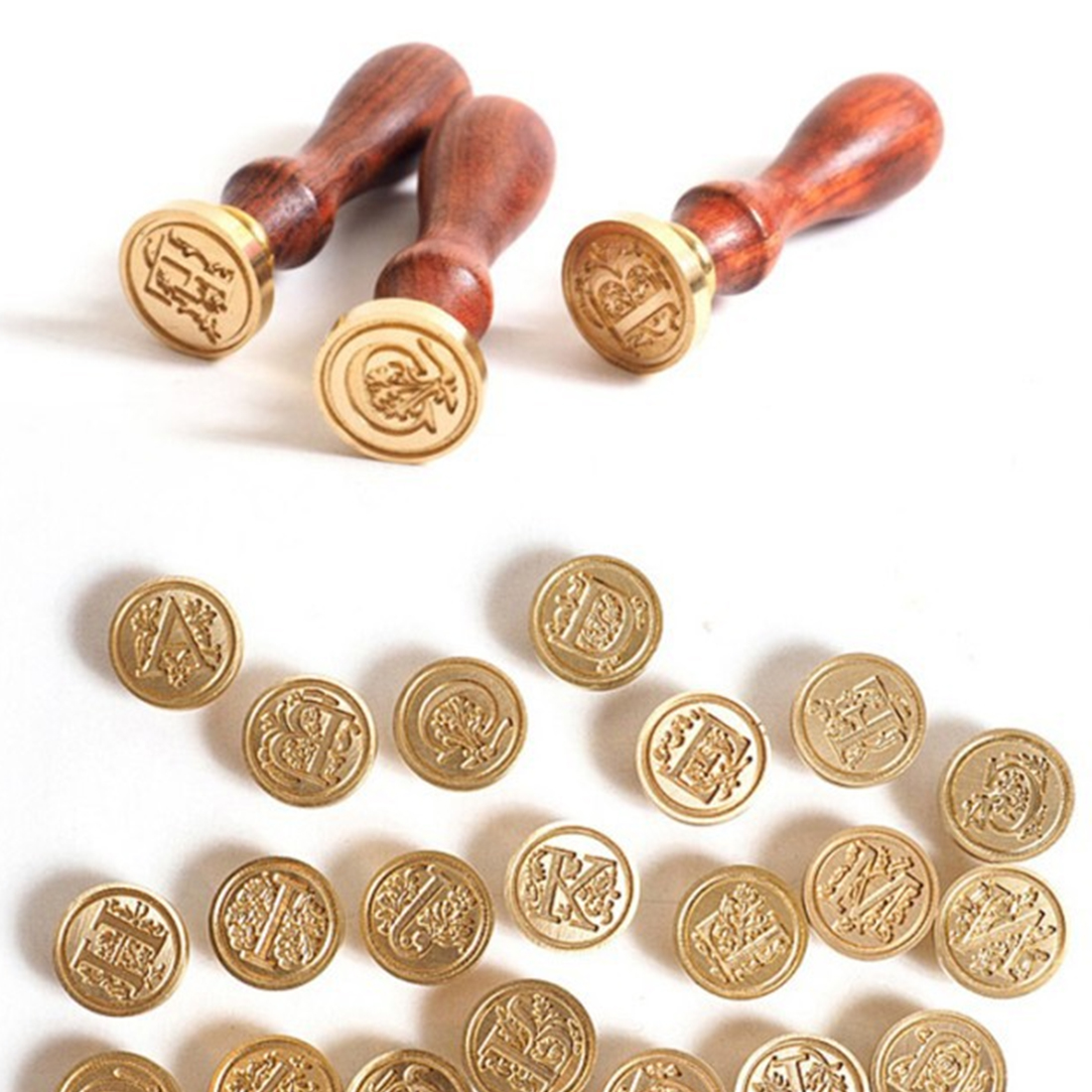 Useful Retro Wood Classic 26 Letter A-Z Alphabet Initial Sealing Wax Seal Stamp Post Dec ...