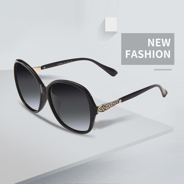 AOFLY BRAND DESIGN Classic Polarized Sunglasses Women Oversized Frame Gradient Lens Rhinestone Sunglasses A102 1