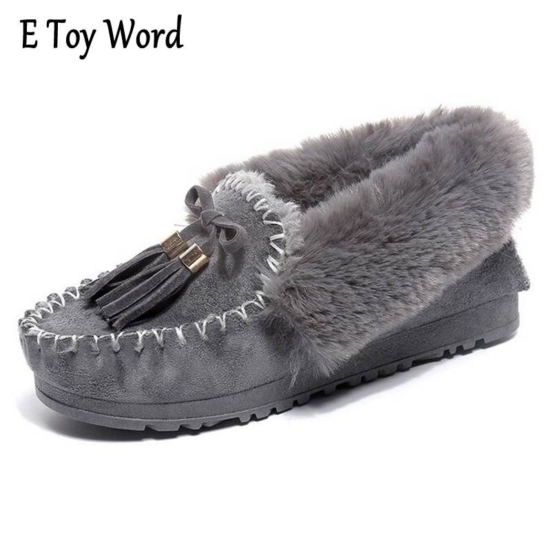 E TOY WORD Snow Boots Winter Ankle Boots Women Shoes Warm Hot Platform Winter Ankle Boots Fashion Tassels Flat Shoes Black Gray segal business writing using word processing ibm wordstar edition pr only