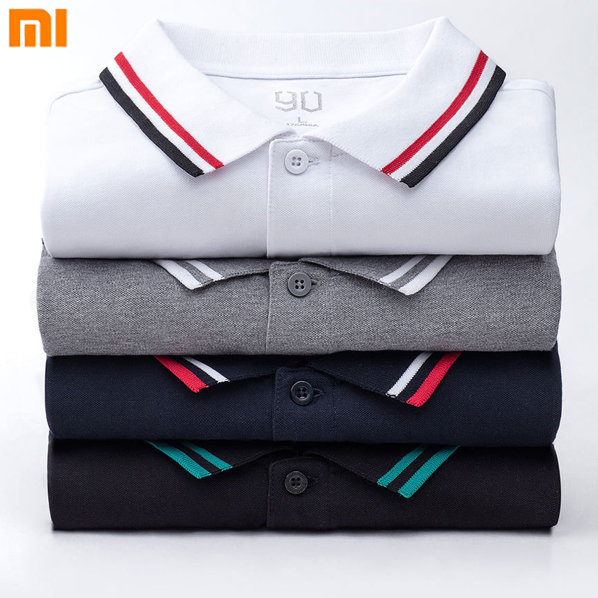 Xiaomi 90Fun Male Polo Shirt Printing 95% Cotton Fashion Summer Short Sleeve T-Shirt For Men New Designer Homme tshirt цена
