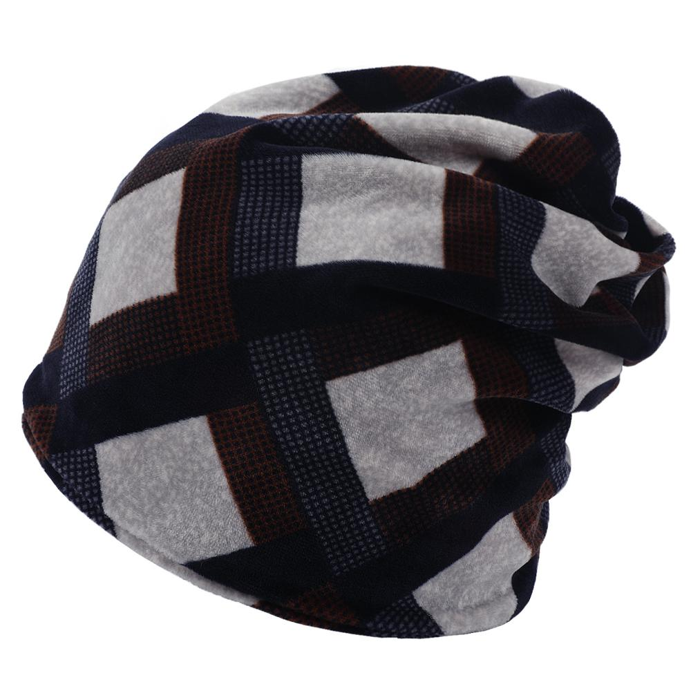 2019 Autumn Winter Hat Unisex For Woman Man Hip Hop Caps Fashion Knit Hats Double-layer Casual Cotton Outdoors   Skullies     Beanies