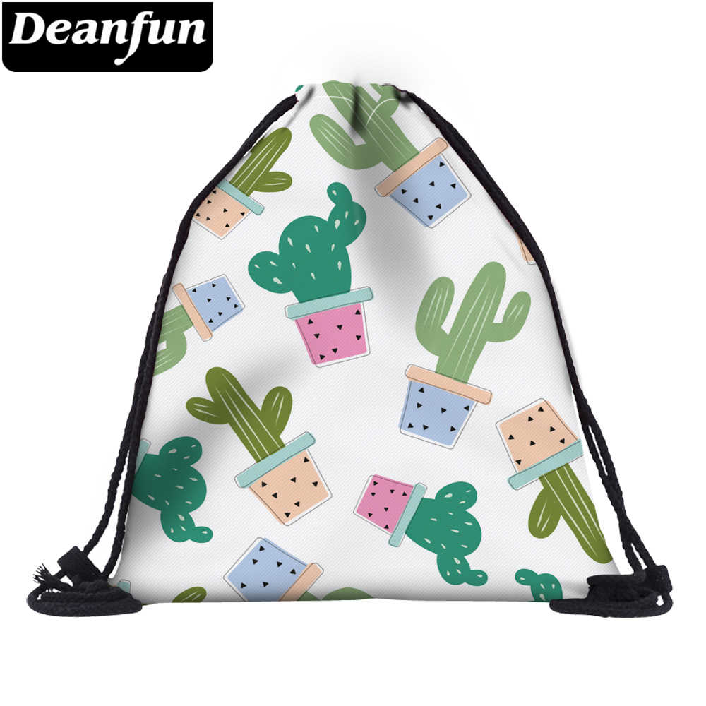 3e9d1e41901 Deanfun 3D Printed Cactus School Bag Funny Women Multifunction Drawstring  Bags 35780