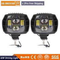 40Watts 5inch led headlight 12v 24v New Led Driving Light led fog light used for car truck suv atv marine New External Light x2
