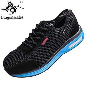 Zapatos de protección para hombre y mujer, zapatos de seguridad Indestructible transpirables, zapatos deportivos informales de verano con punta de acero ligero
