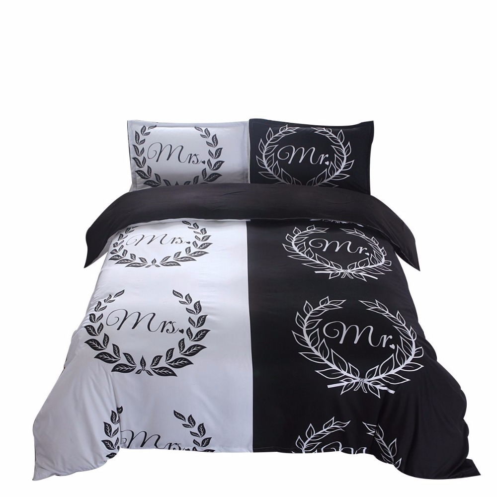 her side his side couple s bedding sets 3pcs duvet cover set a827