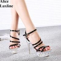 New Design 14 Cm Women Pumps Sexy Party Heels Platform Sandals Plus Size 41 42 43
