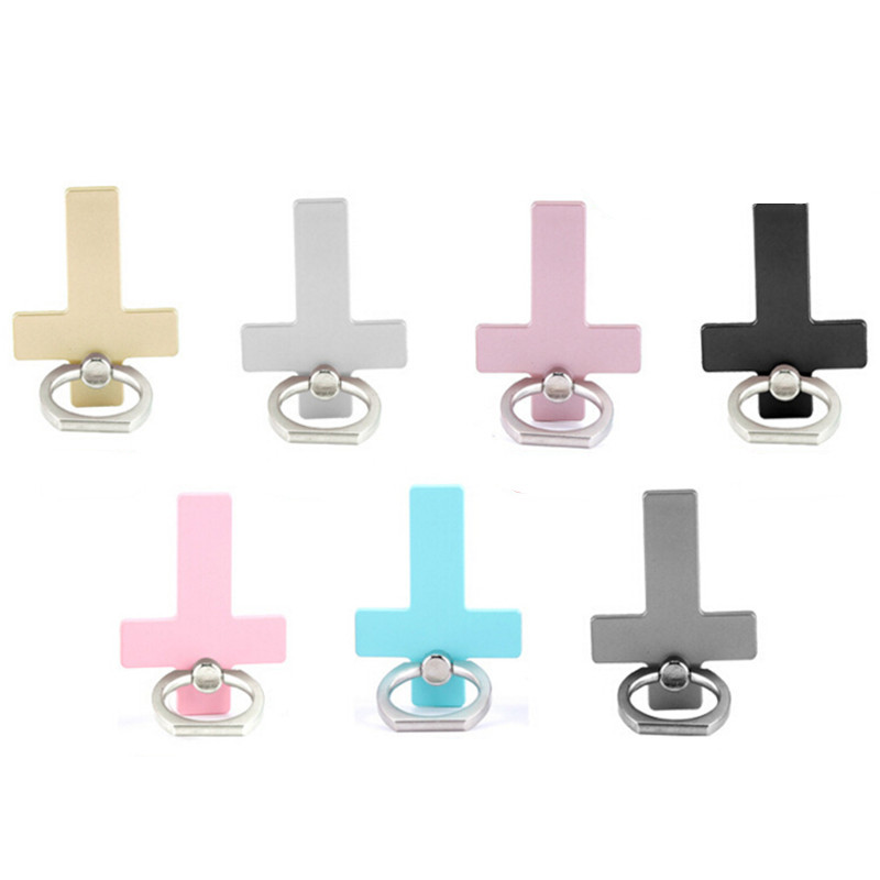 360 Degree Reuse Cross Metal Finger Ring Smartphone Stand Holder Mobile Phone Holder Stand For IPhone Xiaomi All Phone