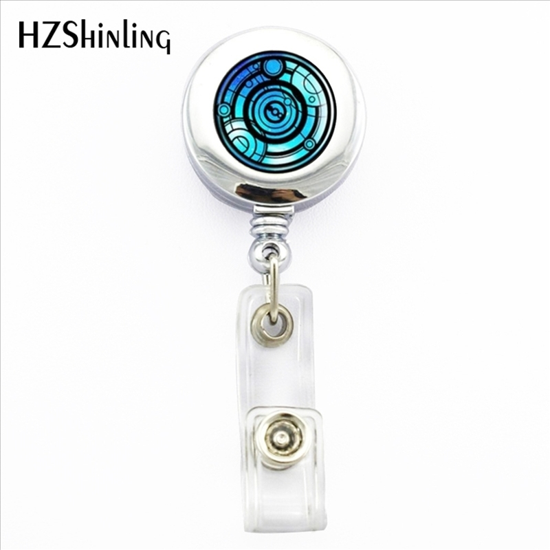 2017 New Time Lord ID Card Holder Doctor Who Retractable Metal Card Badge Holder Doctor Who Office Badge Reel ...