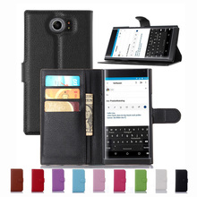 Fashion Purple PU Leather Cover For Blackberry PRIV BB Priv Venice Fold Wallet Case Flip Built Card Slots Kickstand Hard Shell