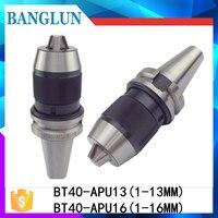 BT40 APU16 Range 1 16mm Integrated Keyless Self Tight Drill Chuck For Milling Lathe BT40 APU13