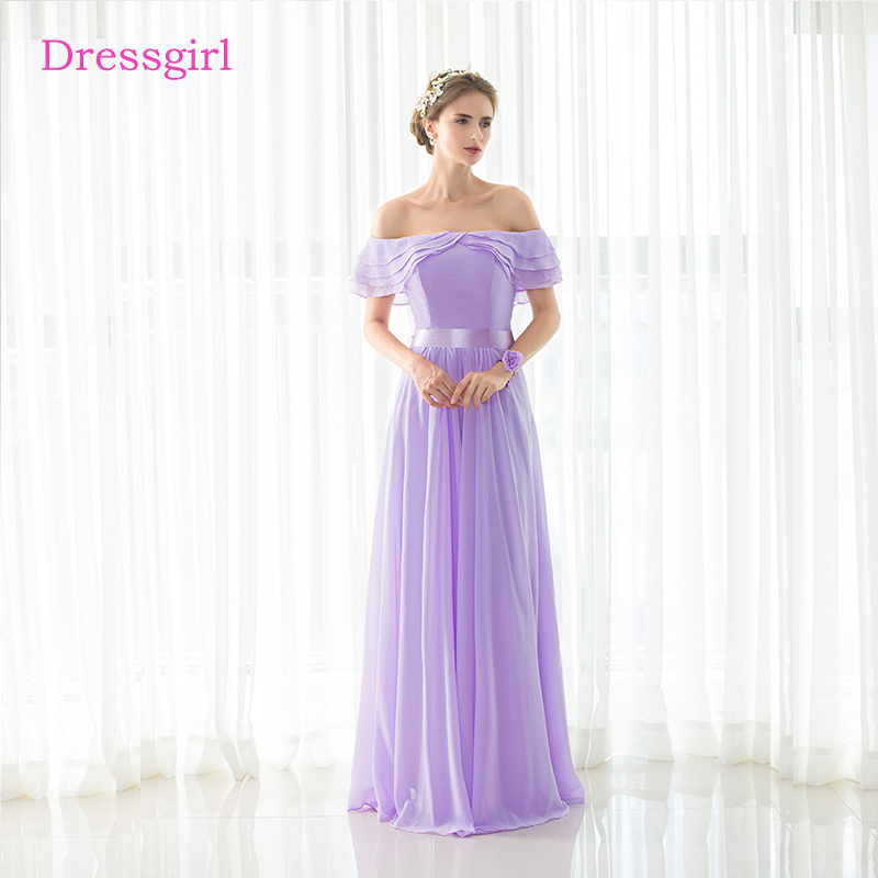 Lavender 2018 Cheap Bridesmaid Dresses Under 50 A line V neck Cap ...