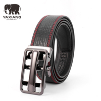 YAXIANG New Style Automatic Belt Men High Quality Top Cow Genuine Leather Luxury Strap Male