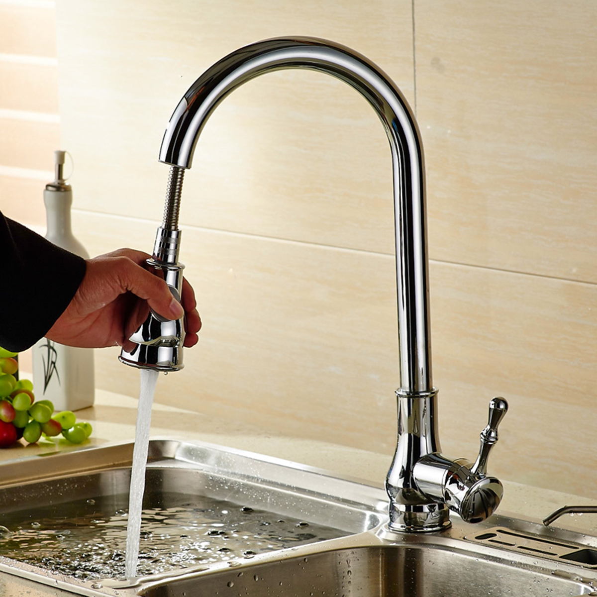 Xueqin Watermark&Wels Stainless Steel 18Inch Pull Down Kitchen Sink Faucet With Soap Dispenser наволочки other 45 45 18inch