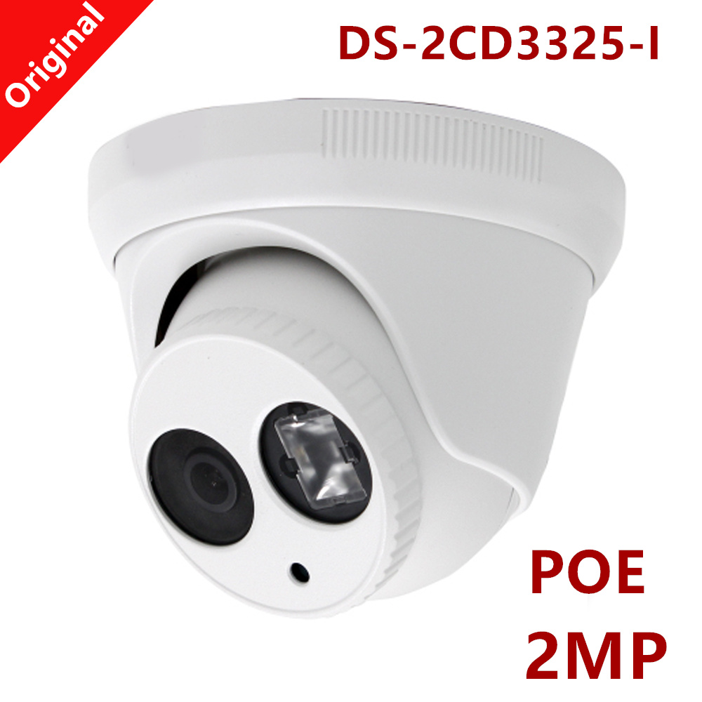 ФОТО Poe IP Camera 2MP H.265 DS-2CD3325-I Support Onvif Full HD1080p real-time video Outdoor Waterproof IP66 IR distance 30m