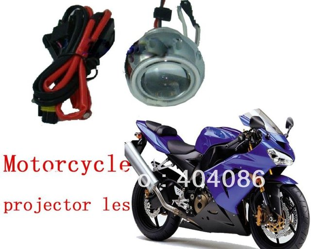 FREE shipping motorcycle HID Bi xenon projector lens kit headlight H4 4300K 10000K 6000K 5000K 8000K with best quality