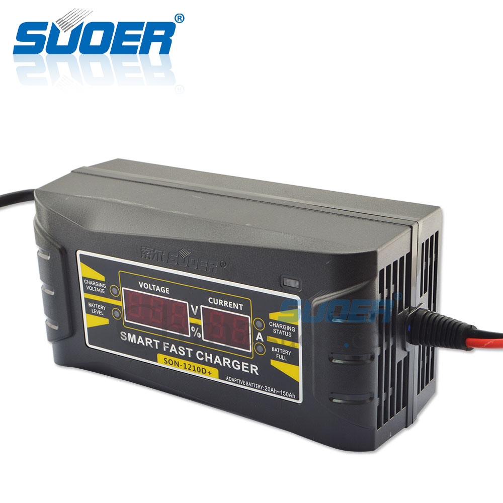 Suoer new design battery charger 12v car battery charger SON 1210D in AC DC Adapters from Home Improvement