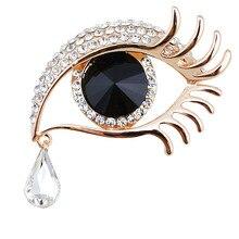 Crystal Evil Eye Brooch (4 Options)