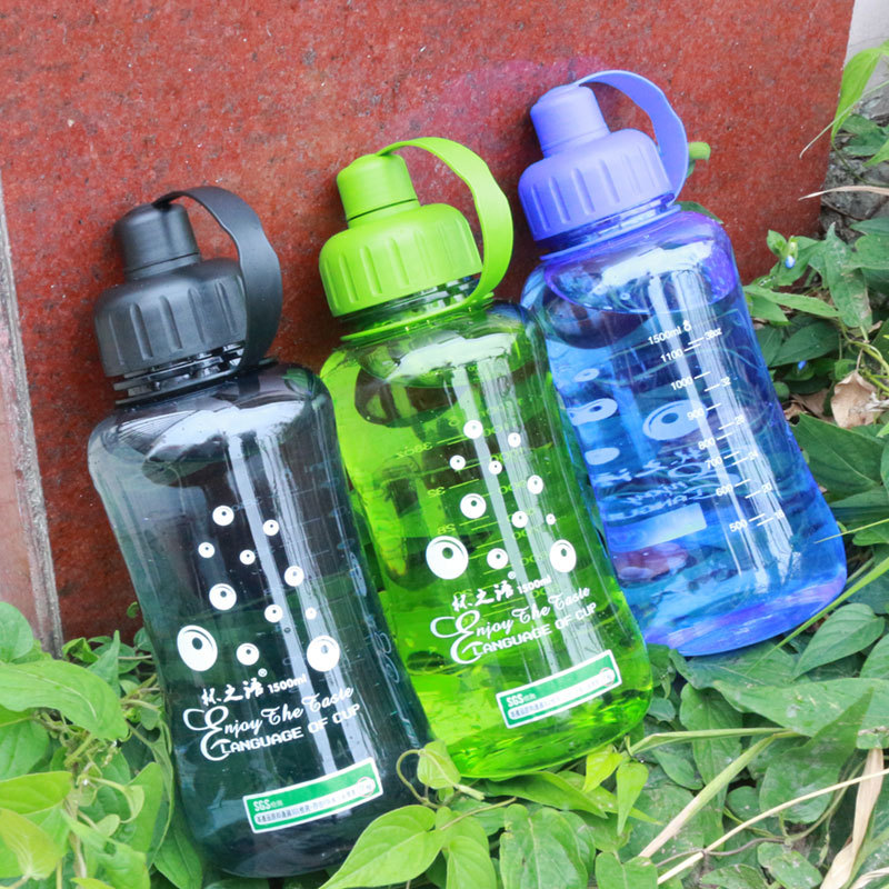 Large Capacity Plastic Outdoor Sports Bottle Portable Leak Proof Hiking Camping Bottles BPA Free(China)