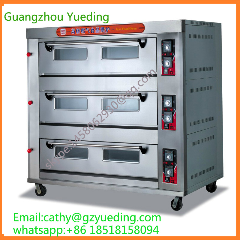 Commercial equipment 3 layer 9 tray gas bread oven / bakery machines цена и фото