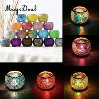MagiDeal 모듬 모로코 모자이크 유리 봉헌 캔들 홀더 티 라이트 Candelabra 촛대 홈 장식|촛대|홈 & 가든 -