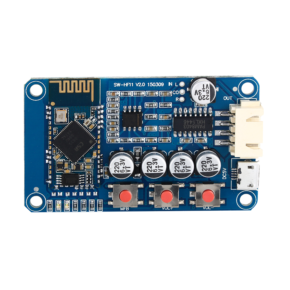 buy bluetooth 4 0 receiver stereo audio amplifier board module mini usb digital. Black Bedroom Furniture Sets. Home Design Ideas