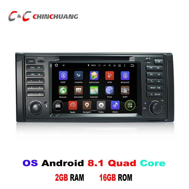 Android 8.1 lecteur DVD de voiture GPS pour BMW série 5 E53 BMW X5 E53 avec Radio Wifi USB/SD BT DVR lien miroir 3G/4G, Support DAB + OBD