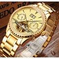 Многофункциональные hombre relogio Switzerland Carnival брендовые Роскошные Алмазные мужские часы Скелетон часы из турбийона мужские C8731-5