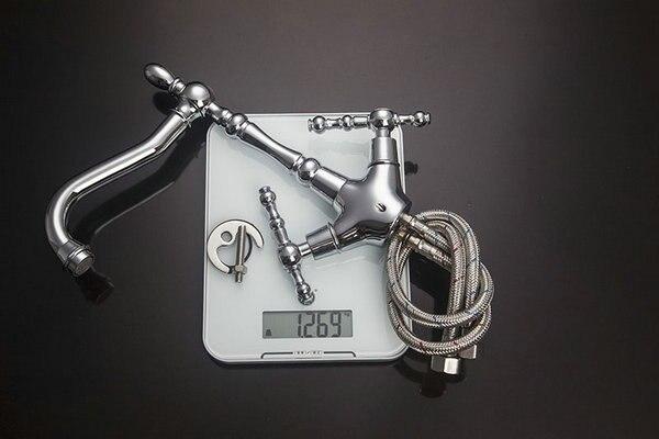 Бортике хромированный смеситель рычаг Кухня Поворотный Раковина кран смесителя кран S-103 смеситель кран