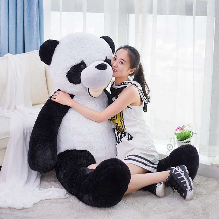 big lovely plush panda toy huge black white panda doll gift about 180cm y0005