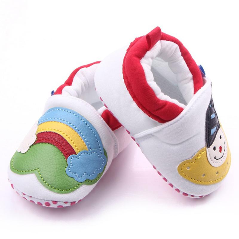Christmas Newborn Baby Girls Princess Carton Winter Warm First Walkers Soft Soled Infant Toddler Kids Girl Cack Shoes