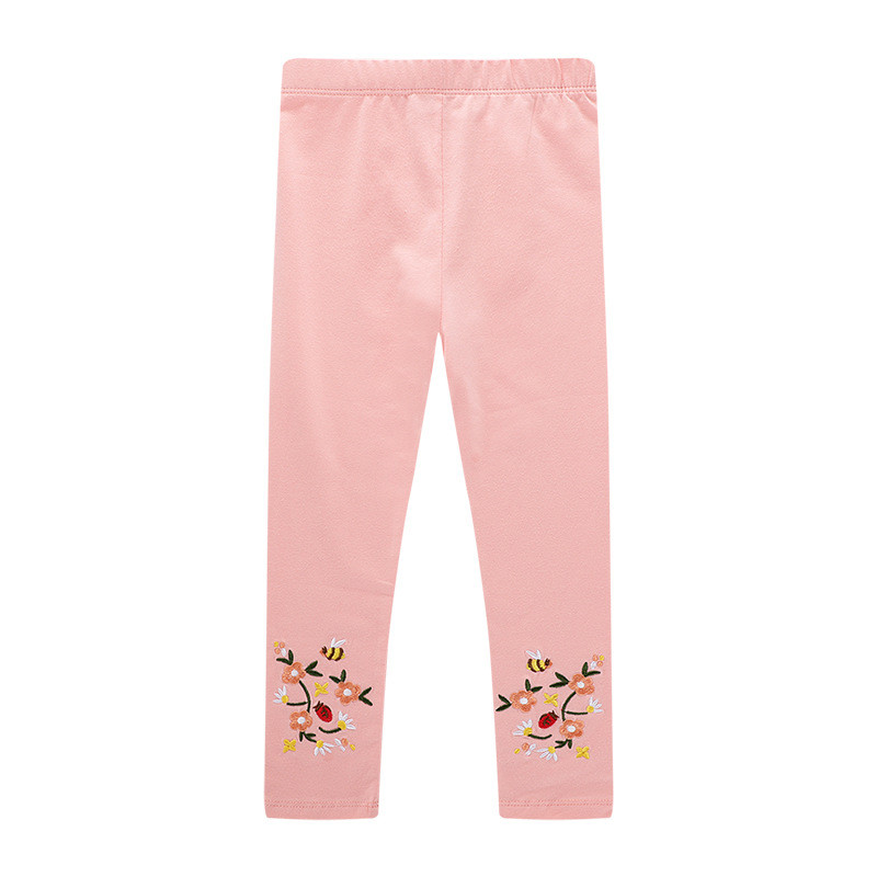 Jumping meters applique some flowers baby girls Leggings Pants new designed kids spring autumn clothes 2-7T cotton Trousers 2019