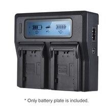 2 pçs LP E6 placa de bateria para neweer andoer duplo/quatro canais carregador de bateria para canon eos 5dii 5diii 5ds 5dsr 6d 7dii 60d
