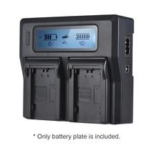 2pcs LP E6 Piastra Batteria per Neweer Andoer Dual/A Quattro Canali Caricabatteria per Canon EOS 5DII 5DIII 5DS 5DSR 6D 7DII 60D