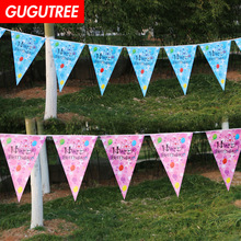 Decorate 2.2m boys gilrs bule pink banners wedding event christmas halloween festival birthday party HY-436