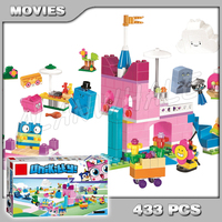 433pcs Unikitty City World Castle Unikingdom Creative Brick Box Unicorn Cat 11019 Model Building Blocks Toy Compatible With Lego