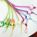 Lo nuevo de la Historieta de Kawaii Hello Kitty Cat Perla Cuello Colgando Colgante de Cuerda Cuerda para Smartphone Teléfono Móvil