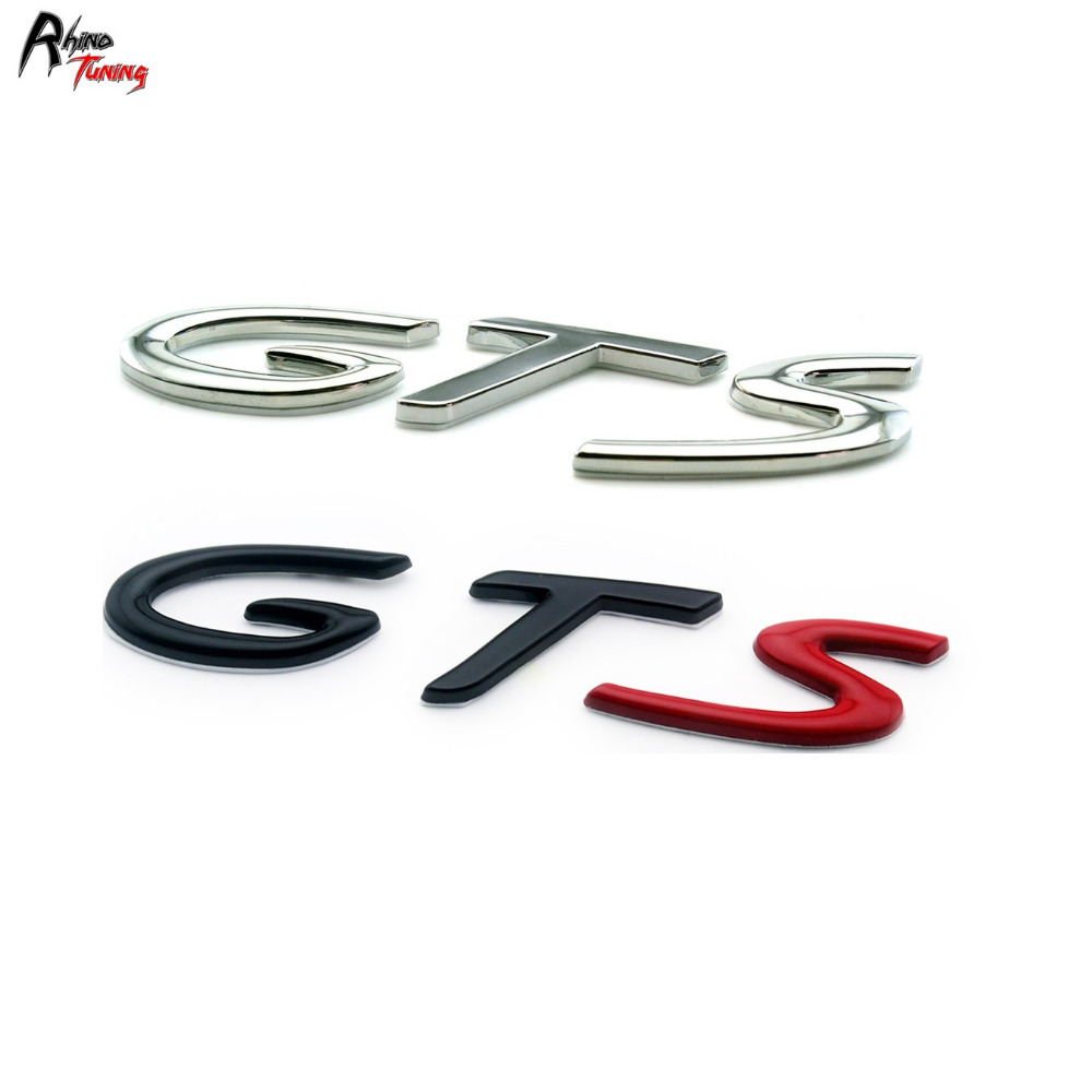 Rhino Tuning GTS Car Body Side Emblem Decal Sticker Badge Metal Auto Styling For Carre-a M-can 928 901 930 993 Badge 761 auto chrome camaro letters for 1968 1969 camaro emblem badge sticker