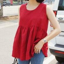 Womens Tops And Blouses Ruffle Chiffon sleeveless Blouse Women 2018 Fashion Summer Shirts Large Size  Feminina 686C