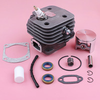52mm Cylinder Piston Kit For Husqvarna 268 272 272XP Fuel Filter Line Oil Seal Gasket Bearing Chainsaw Replace Part