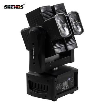 4 Buah/8X10 W RGBW 4in1 Beam Moving Head Stage Light DJ Pesta Pernikahan Bar LED Tahap efek Lampu Double Wheel DMX Kontrol
