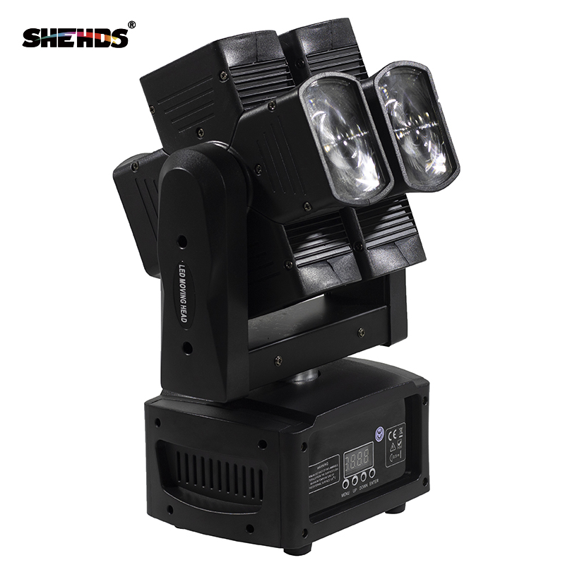 4pcs/lot 8x10W RGBW 4in1 Moving Head Beam Light for Stage DJ Party Wedding Bar Led Stage Effect Lights double wheel DMX Controll 6pcs lot dj lights cree 9pcs 15w sharpy beam light 4in1 rgbw moving head beam led light extend robot rotating dmx stage light
