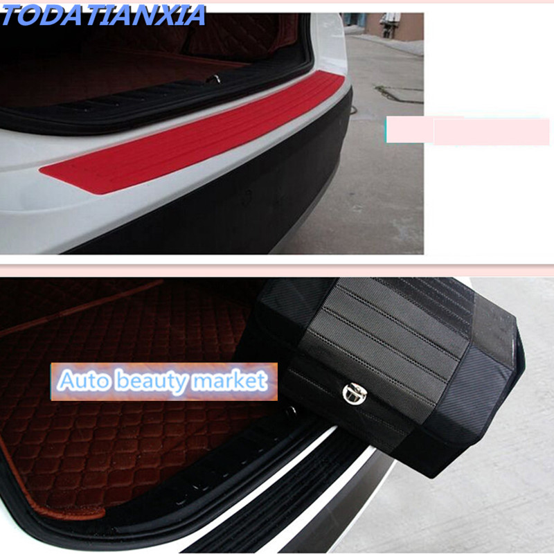 Car Sticker Rear Bumper Rubber Scratch Protection For Fiat Punto Ford Ka Renault Duster Honda Civic  Vw Gol In Car Stickers From