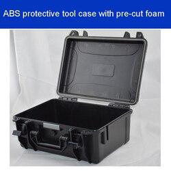 Caja de Herramientas maleta resistente al impacto sellado impermeable ABS caja de equipo fotográfico caja de cámara con espuma precortada