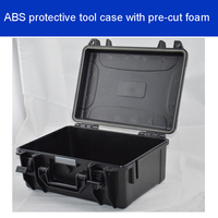Tool case toolbox suitcase Impact resistant sealed waterproof ABS case Photographic equipment box camera case with pre cut foam