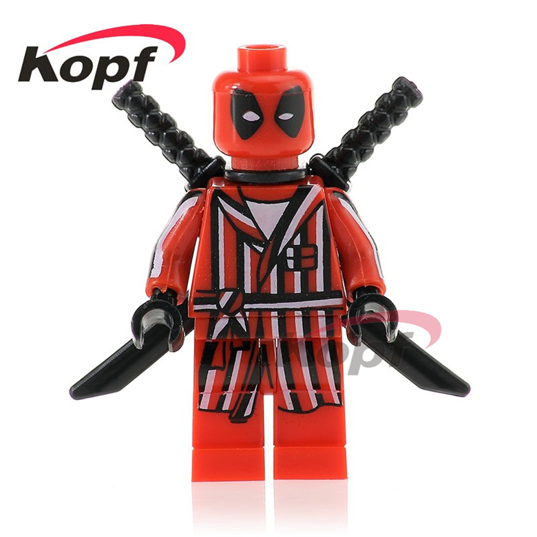 Dutiful 50pcs Pg351 Super Heroes Bathrobes Deadpool With Green Blue Red Spiderman Bricks Building Blocks Christmas Toys For Children Toys & Hobbies