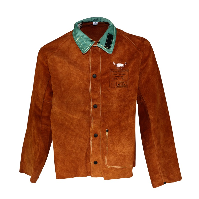 Leather Welding Aprons Cow Split Leather Welding Jackets split cow leather welding jackets service work wear long style cowhide spark aprons